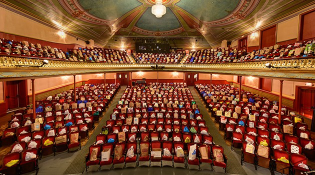 """Image of the """"Fill the Hall"""" food drive event from the Music Hall website"""