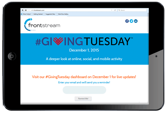 Giving Tuesday Dashboard FrontStream