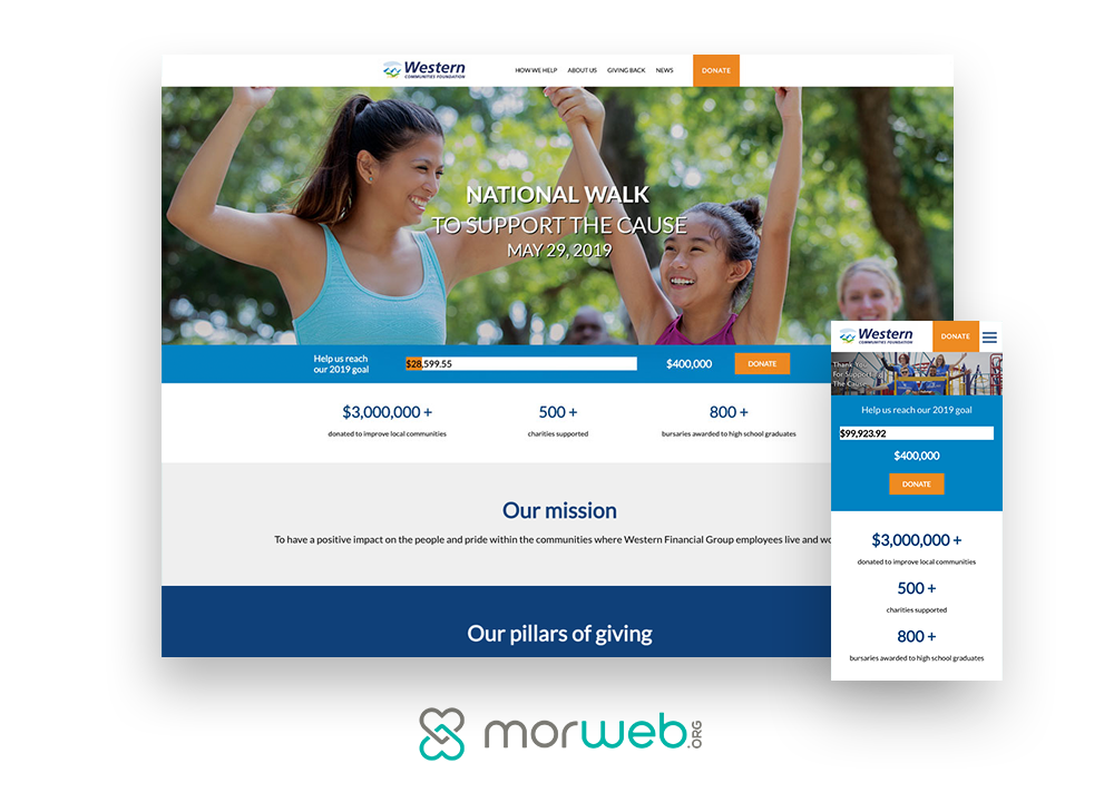 Morweb-Frontstream-Growing-Your-Donor-List-5-Practices-to-Reach-Your-Goals-website-design