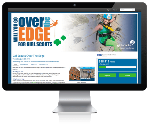 Online-fundraising-over-the-edge